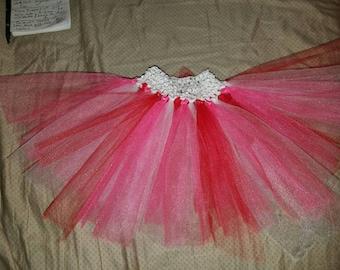 Pink red white tutu