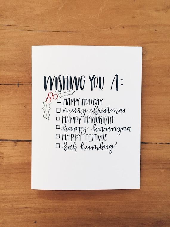 Holiday Greeting Checklist Card