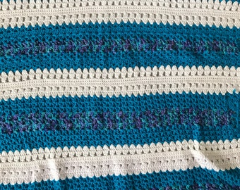 Beautiful blue baby blanket