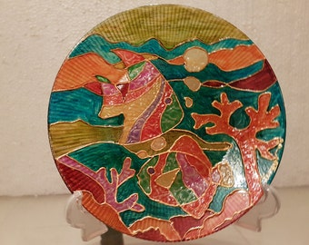 Fish Glass Plate