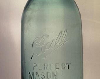 Half Gallon Ball Perfect Mason Jar, Vintage