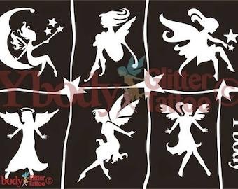 """Stencil set """"Fairies"""""""