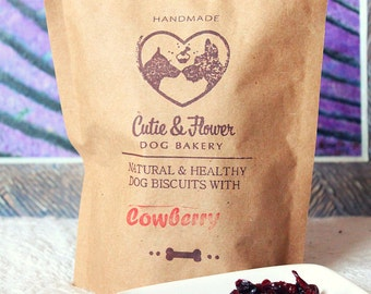 Dog biscuits with cowberry