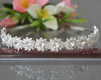 Crystal Crown,Bridal Tiara,Swarovski Crystal,Wedding tiara,Crown,Czech stones,accessory,royal diadem.