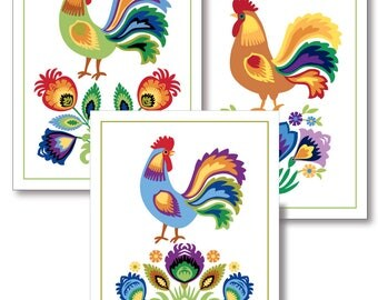 Set of six greeting cards