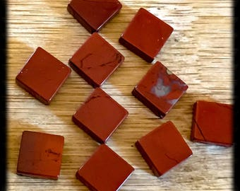 8x8mm Diamond Shapes Red Jasper Beads - 10 beads - A13