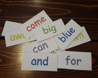 Printable Pre-K Sight Words Magnets