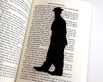 Buster Keaton Bookmark | Hand-Cut Paper Silhouette