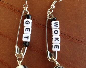 Get Woke Dangle Earrings