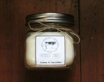 16 oz natural soy candle ~ scent of choice