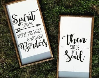 Borders and Soul Wood Signs 26 X 13 inches
