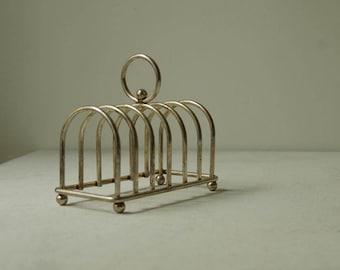 French vintage Toast rack Silver. Breakfast, Dining or Mail Rack,   Letter Holder,  Storage, Organization