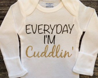 Everyday I'm Cuddling, Baby Girl Onesie, Baby Shower Gift, Baby Girl Gift, Infant Clothing, Cute Baby Gift, Newborn Onesie