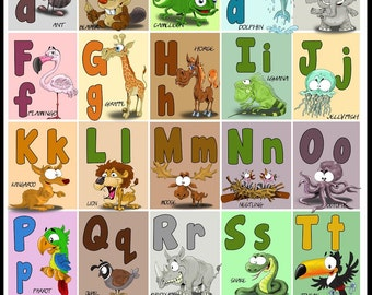 My First Alphabet Poster (A3 and A4) - ABC education chart