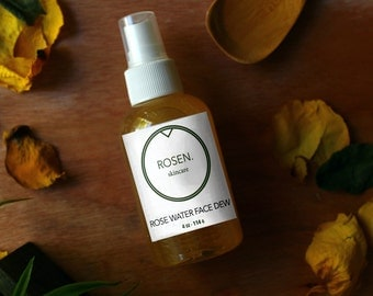 Rose Water Face Dew - Rose Water Facial Mist - Face Mist Moisturizer - Mist for Dewy Skin - Moisturizer for Clogged Pores - Rose Water Spray