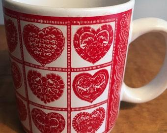 Vintage Unicef Heart Mug