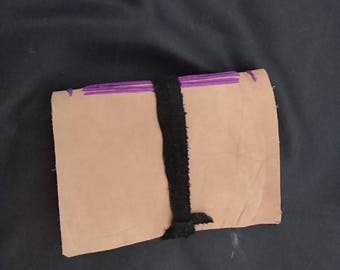 Hand-bound leather journal