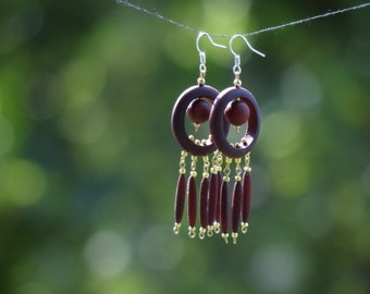 Earrings made of wood65