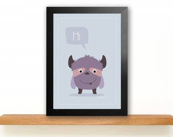 A4 Monster Poster Children's Room picture Kids poster