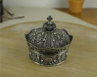 Metal Crown-shaped Box