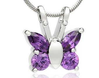 Butterfly Cremation Urn Pendant