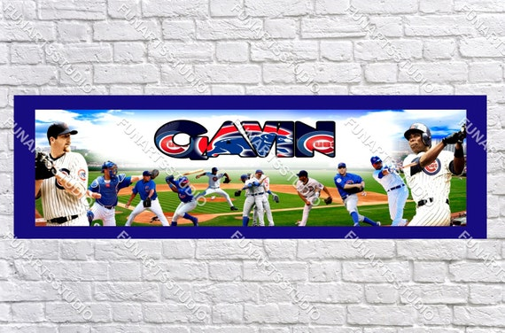 personalizedcustomized chicago cubs sport poster by