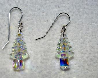 Swarovski Christmas Tree Earrings