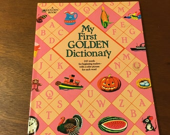 """1983 """"my first golden dictionary"""" by mary reed and edith osswald, illustrated by richard scarry"""
