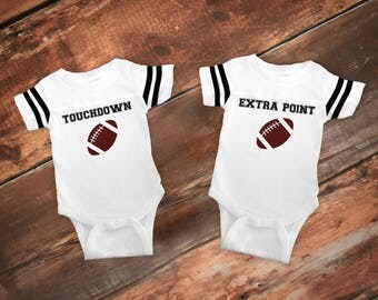 Funny Twin One Piece,  Funny Twin Outfit, Funny Boy Clothes, Funny Baby Boy Clothes Funny Baby gift, Baby Romper, Baby Football Jersey