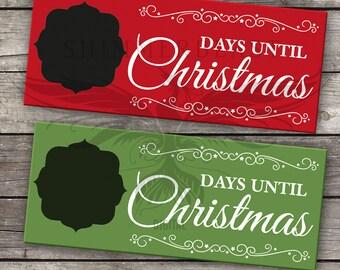 Christmas SVG Cut File | Christmas Countdown svg | Days Until Christmas svg | Christmas SVG design | Christmas Chalkboard SVG