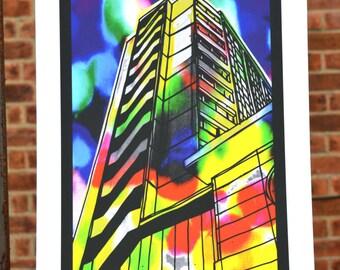 Bristol Nelson Street Building Print