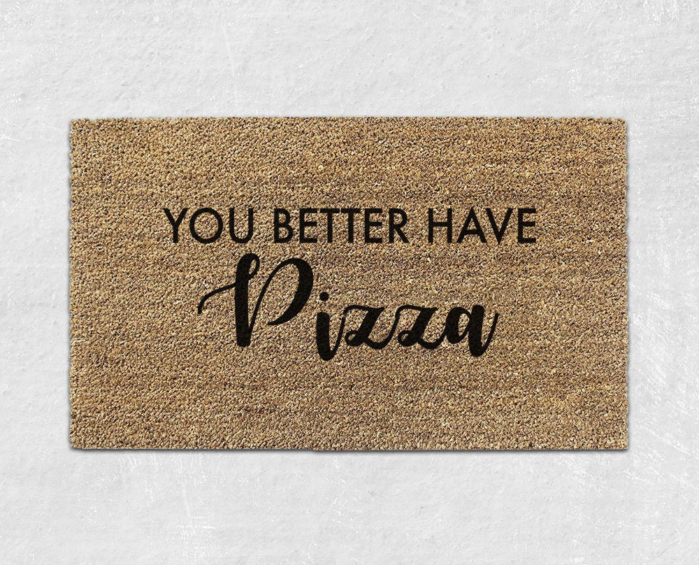 Pizza Doormat Funny Door Mat Cute Doormat Welcome Mat
