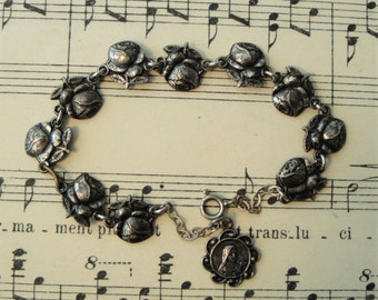 Antique French Rose / St Therese of Lisieux Bracelet c1920