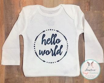 """Boys """"Hello World"""" Onesie!!"""