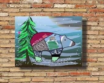 December Bear Digital Print