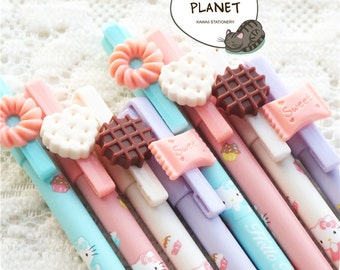 Hello Kitty Dessert Gel Pens Cookie Chocolate Candy Sweet Black Inc Blue Pink White Purple