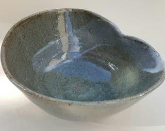 Deformed celadon Brown stoneware Bowl