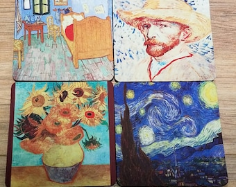 Van Gogh Fabric Coaster Individual/Set