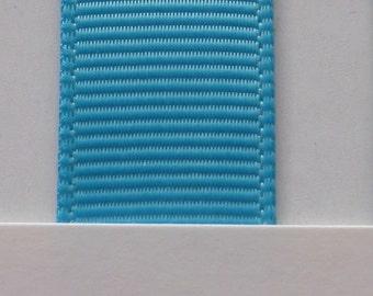 "3/8"" / 10mm Solid Grosgrain Ribbon TURQUOISE #340 X 2 METERS"