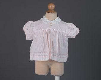 Vintage 1960s baby girl's pinstripe blouse