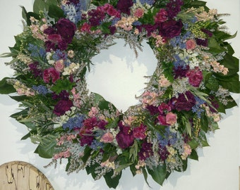 Dried flower wreath 16""
