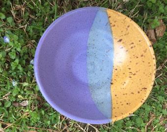 Evolve | Unique Handmade Dessert Bowl | Soup Bowl | Purple and Orange Bowl | Ceramic | Pottery