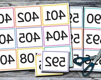 Mirror Image / Reverse / Backwards and Normal Item Numbers 401-600 - Print Your Own! - MIRIT_01_4-6