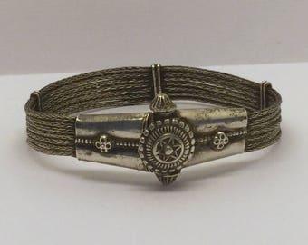 ethnic tribal sterling silver bracelet #240