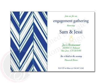 Diagonal Pattern - Engagement Party Invitation