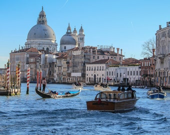 """Venice Photography, Italy, Travel, Architecture, City Photography, Color, Water, """"Boating in Venice"""", 8x12, 12x18"""