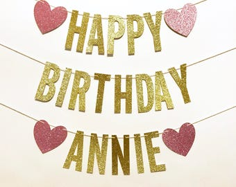 HAPPY BIRTHDAY BANNER, happy birthday sign, happy birthday name banner, custom birthday banner, custom birthday sign, birthday name sign