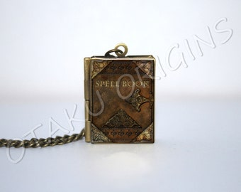 Spell book locket