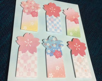 Sakura Message page marker shaped cherry blossom from japan