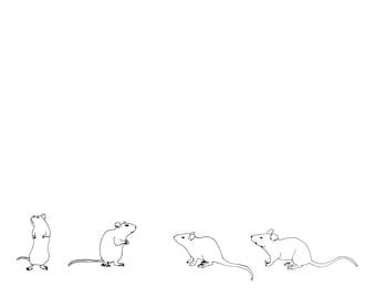 Four rats print